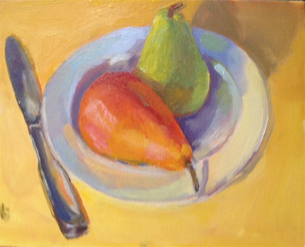 """Grow a Pear"" original fine art by Marcia Bergtholdt"