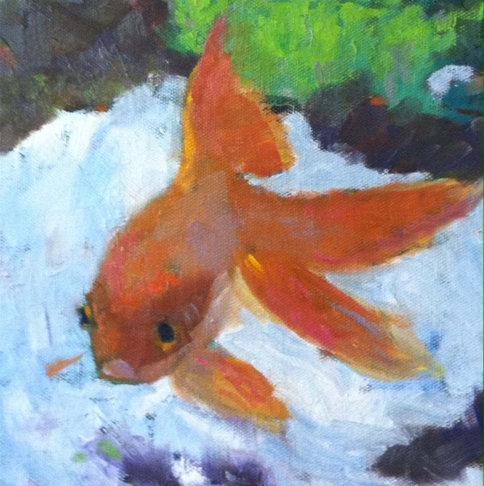 """Goldfish"" original fine art by Katharine March"