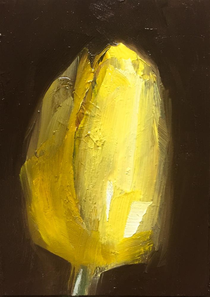 """Glowing Tulip"" original fine art by Gary Bruton"