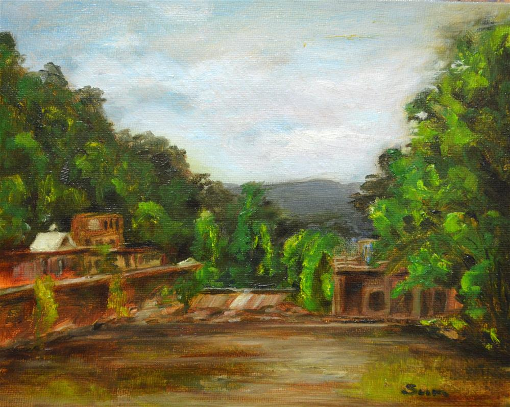 """Marshall, French Broad River Park"" original fine art by Sun Sohovich"