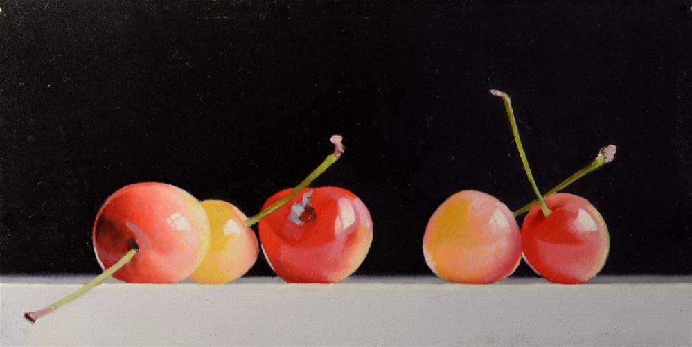 """Four Washington Cherries"" original fine art by Brian Burt"
