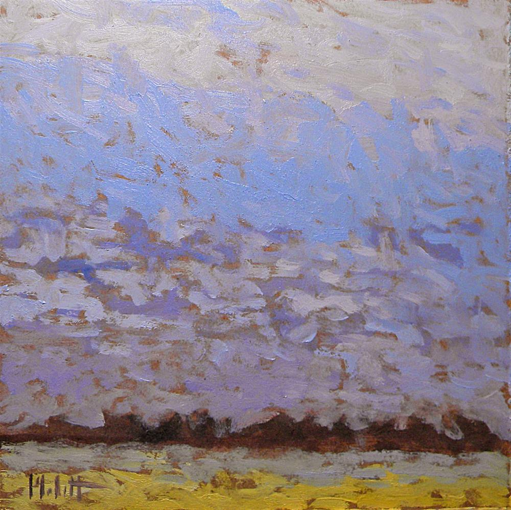 """Contemporary Impressionist Sky Blues Countryside Landscape Heidi Malott Daily Oil Paintings"" original fine art by Heidi Malott"