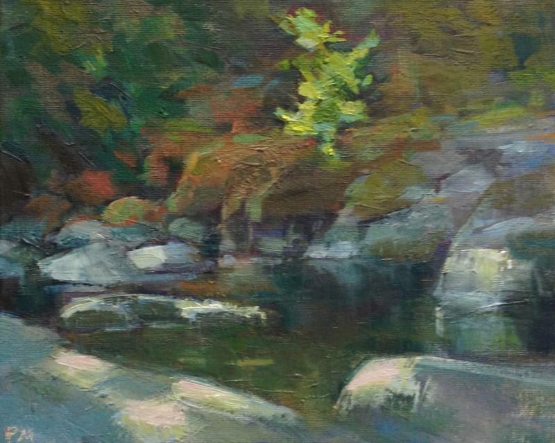 """Sweet Creek Grotto"" original fine art by Patti McNutt"
