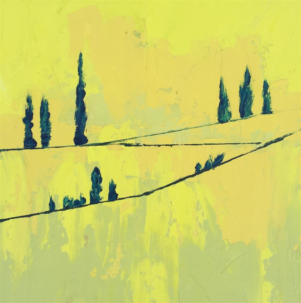 """Yellow-landscape"" original fine art by Janet Bludau"