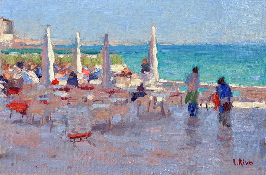 """""""Esplanada. Cascais."""" original fine art by Lena  Rivo"""