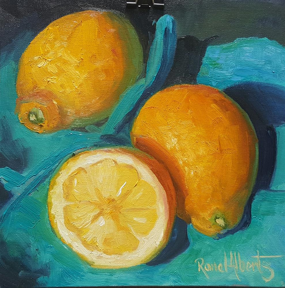 """Lemonade"" original fine art by Ronel Alberts"