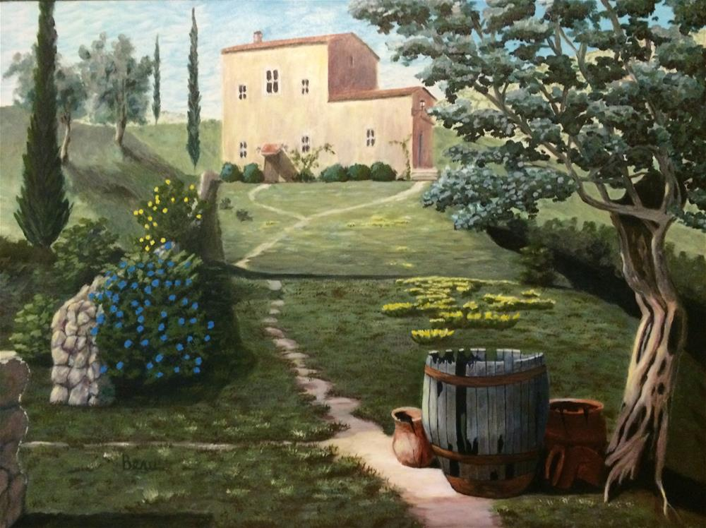 """Under the Old Olive"" original fine art by Beau Crump"