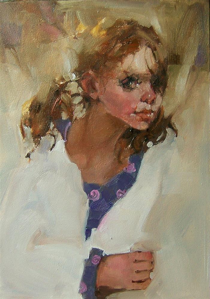 """The Glance"" original fine art by Kim Roberti"