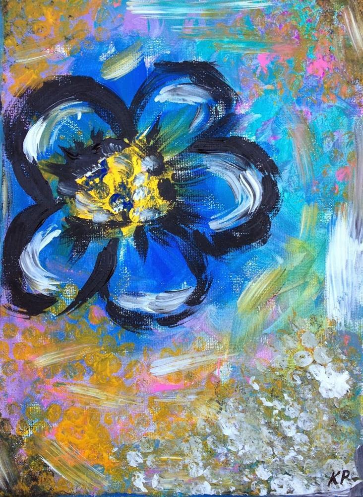 """Lone Blue"" original fine art by Kali Parsons"