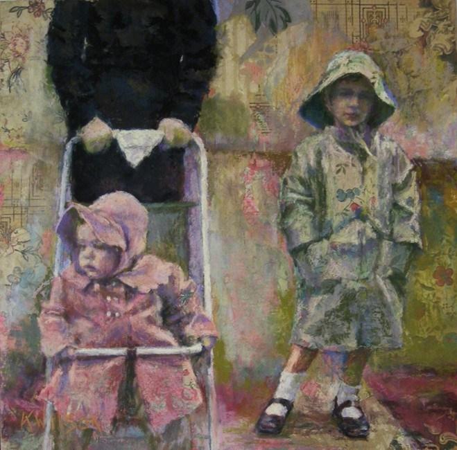 """A Stroll"" original fine art by Katie Wilson"