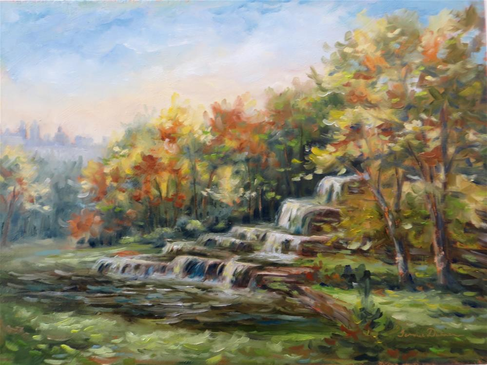 """Morning at Montebello Falls"" original fine art by Tammie Dickerson"
