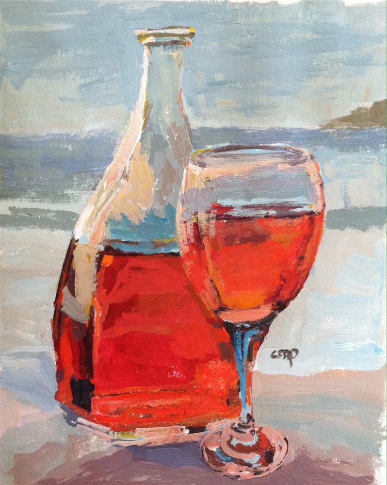 """still life at beach"" original fine art by Christine Parker"
