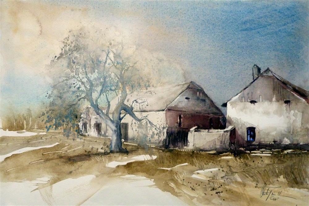 """Farmstead near Riegersburg Styria, Austria ; Gehöft nahe Riegersburg Steiermark"" original fine art by Christa Friedl"