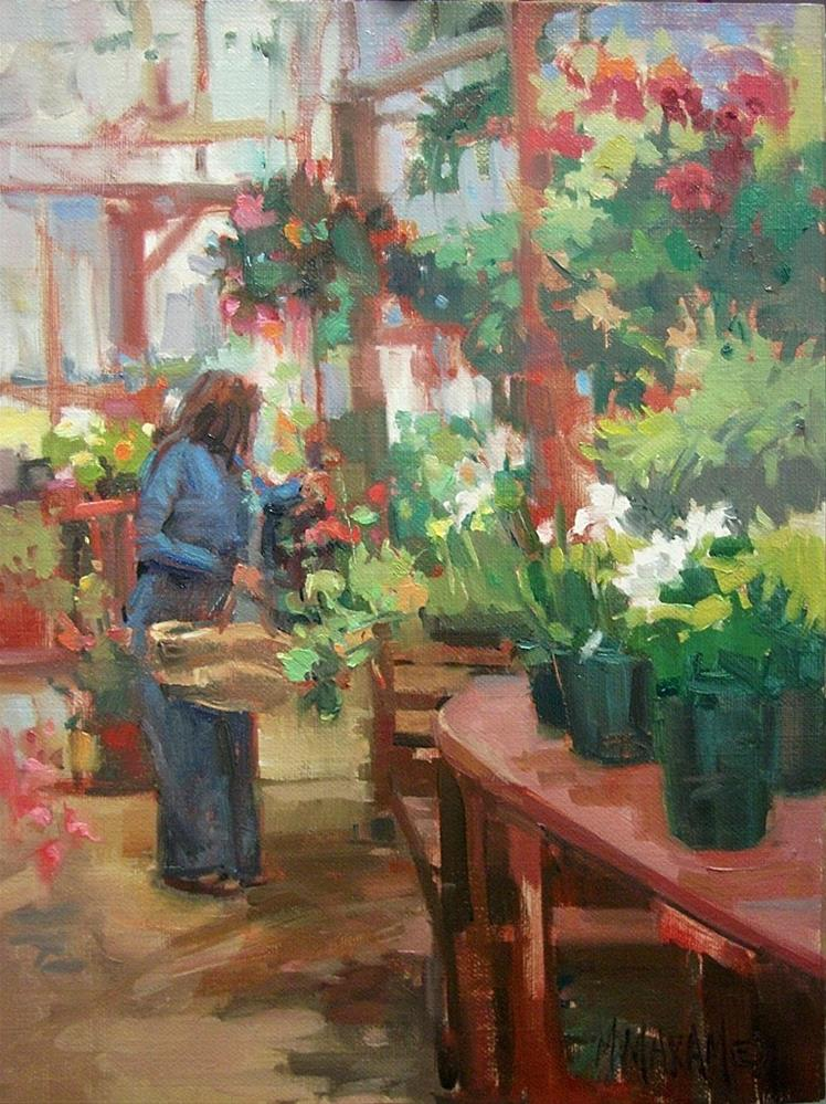 """Garden Plans"" original fine art by Mary Maxam"