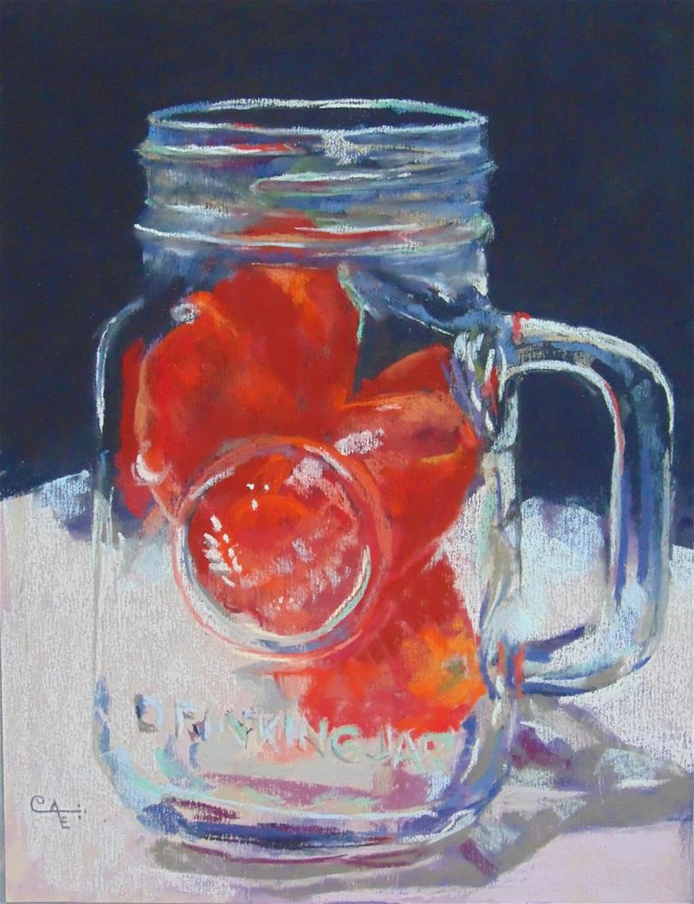 """Jarred Tomatoes"" original fine art by Catherine Kauffman"