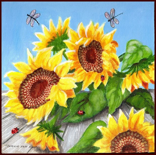 """Sunflower Field #2"" original fine art by Patricia Ann Rizzo"