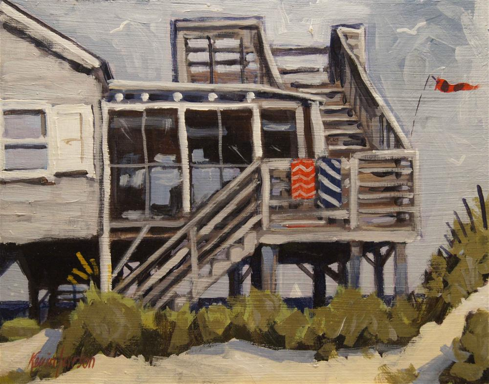 """Beach Cottage 5"" original fine art by Kevin Larson"