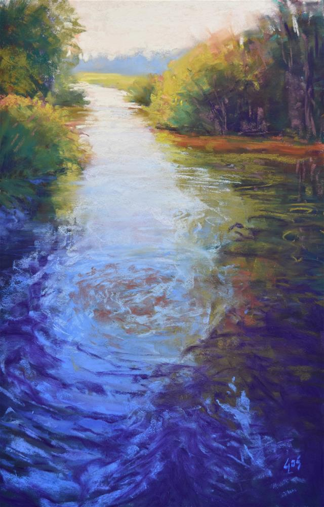 """North Creek Rippling"" original fine art by Alejandra Gos"