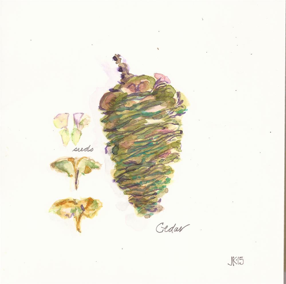 """Cedar"" original fine art by Jean Krueger"