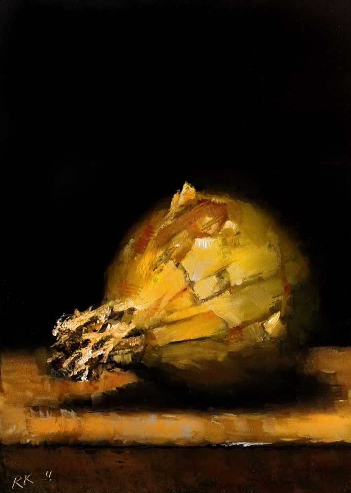 """Yellow Onion"" original fine art by Bob Kimball"