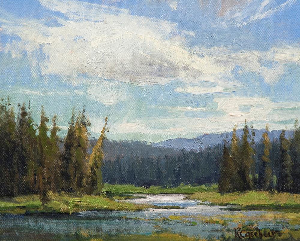 """Swan Lake"" original fine art by Kim Casebeer"