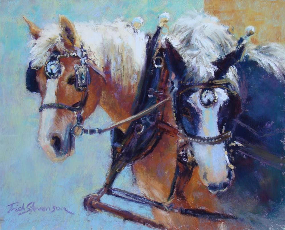 """Draft Horses"" original fine art by Trish Stevenson"