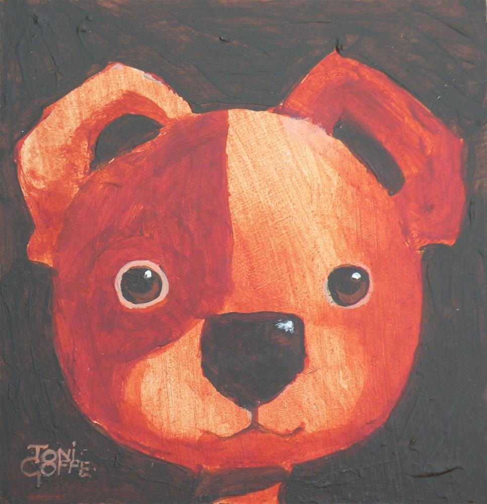 """Puppy"" original fine art by Toni Goffe"