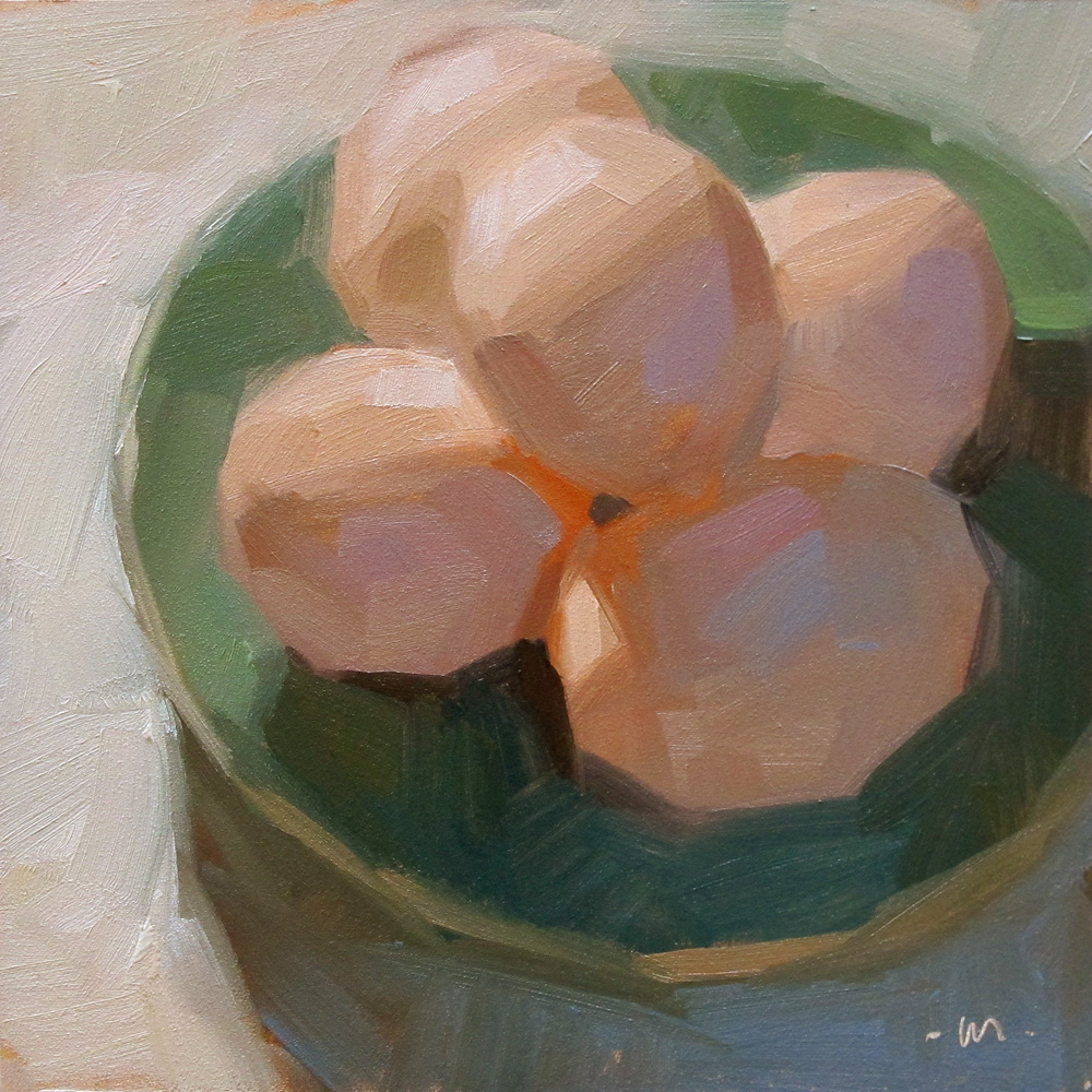 """Egg Stack"" original fine art by Carol Marine"