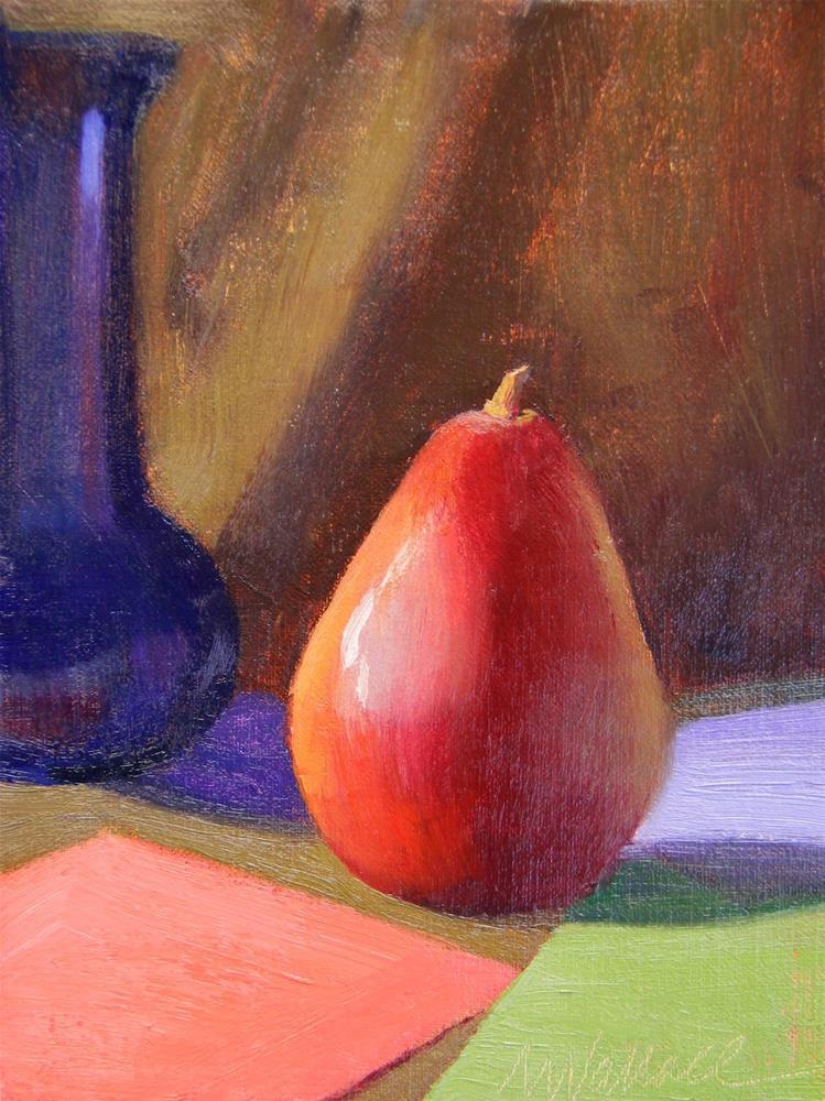 """""""#21 Pear appearance"""" original fine art by Nancy Wallace"""