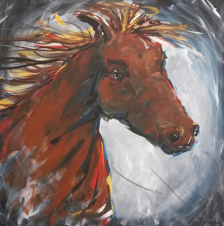 """Run Like the Wind"" original fine art by Terri Einer"