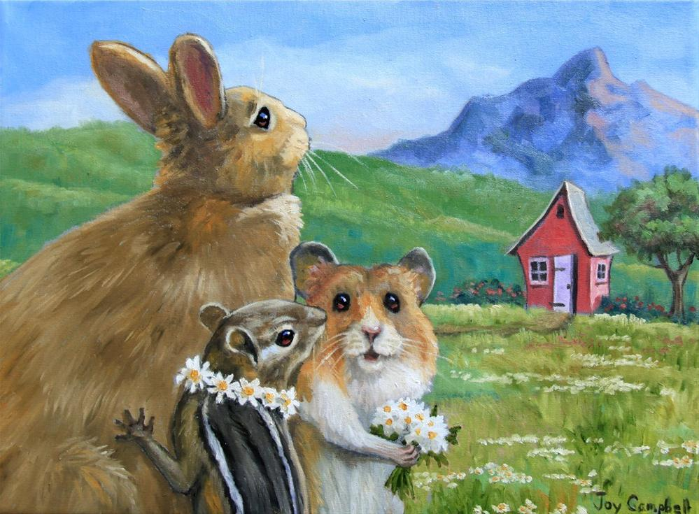 """New Neighbors?"" original fine art by Joy Campbell"