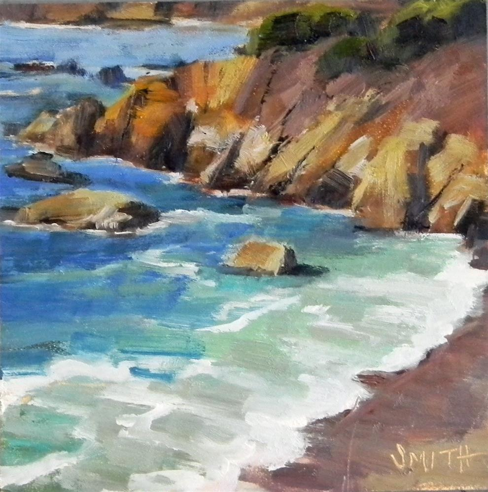 """Aqua Blue Beauty"" original fine art by Barbie Smith"