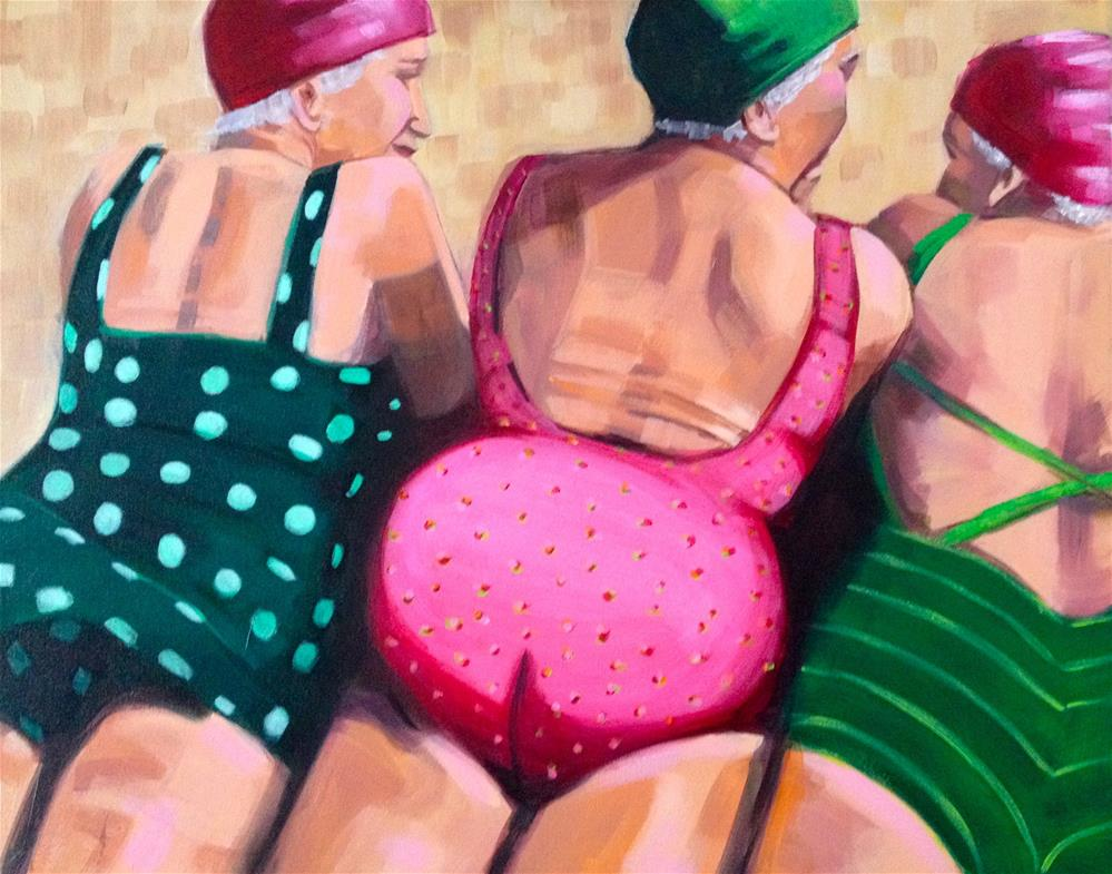 """Beach Bums"" original fine art by Bev Thibault"