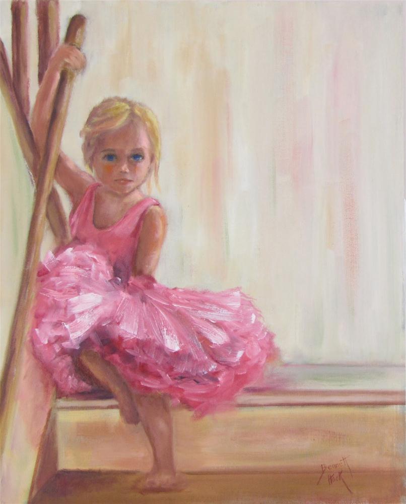 Barefoot Ballerina original fine art by Maria Bennett Hock
