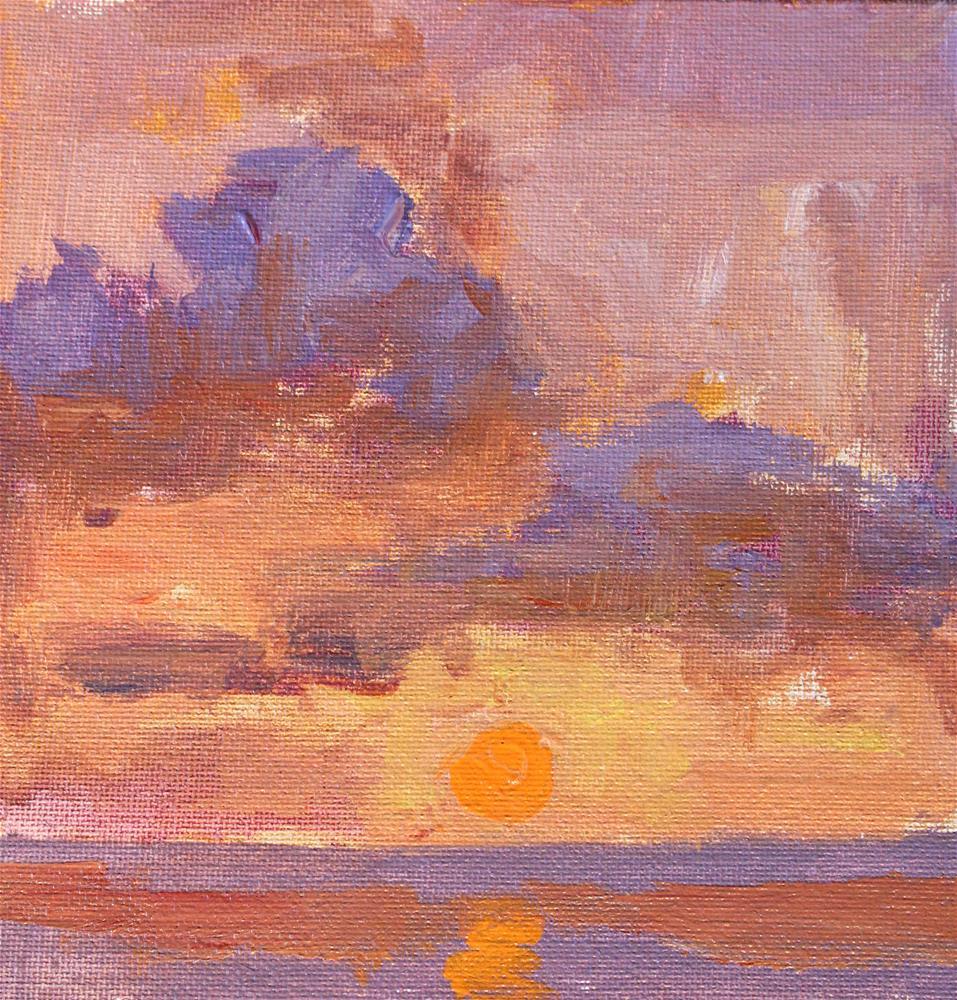 """Sunset Over The Gulf "" original fine art by Michael Clark"