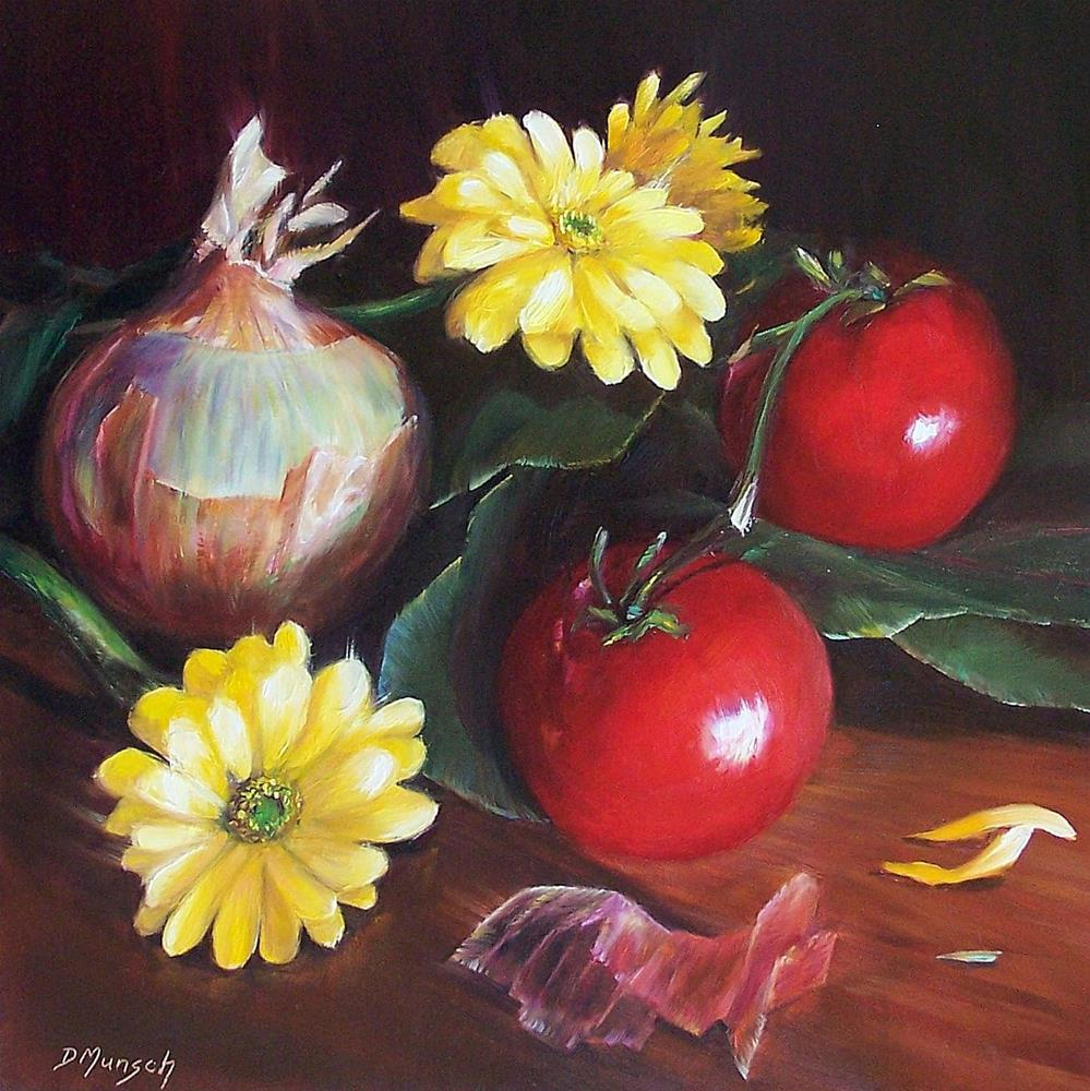 """Onion Friends"" original fine art by Donna Munsch"