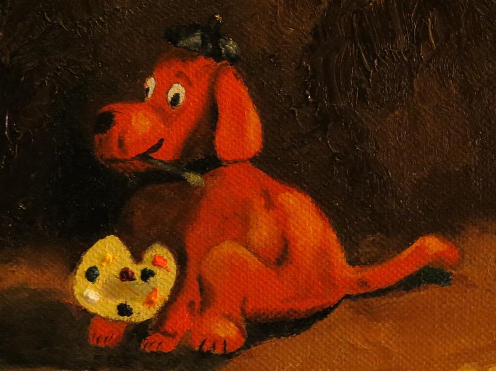 """Clifford the Artist"" original fine art by Bob Blackmon"