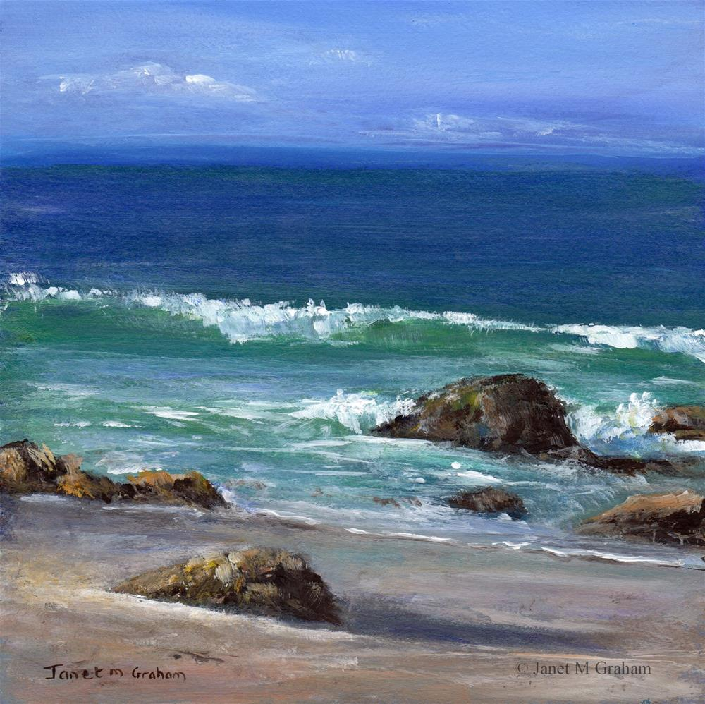 """Kirra Beach"" original fine art by Janet Graham"
