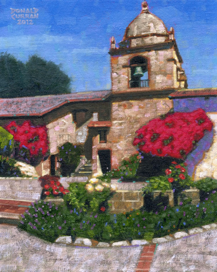 """Carmel Mission"" original fine art by Donald Curran"
