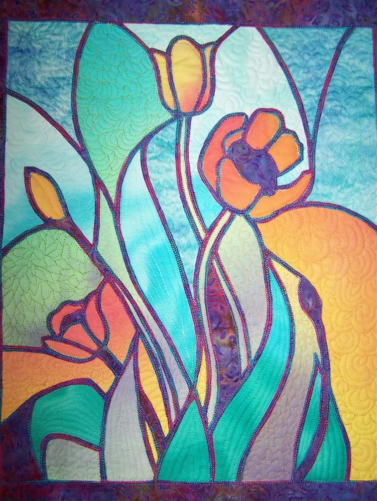 """Tulips"" original fine art by Joan Reive"