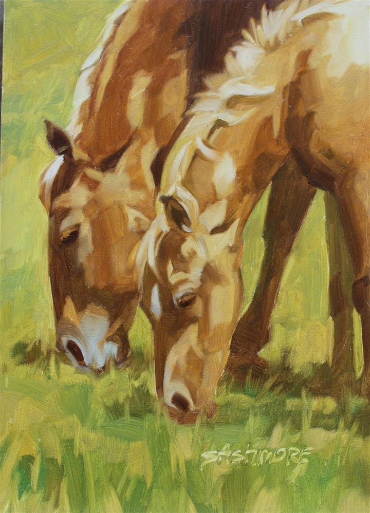 """Just Like Mom"" original fine art by Susan Ashmore"