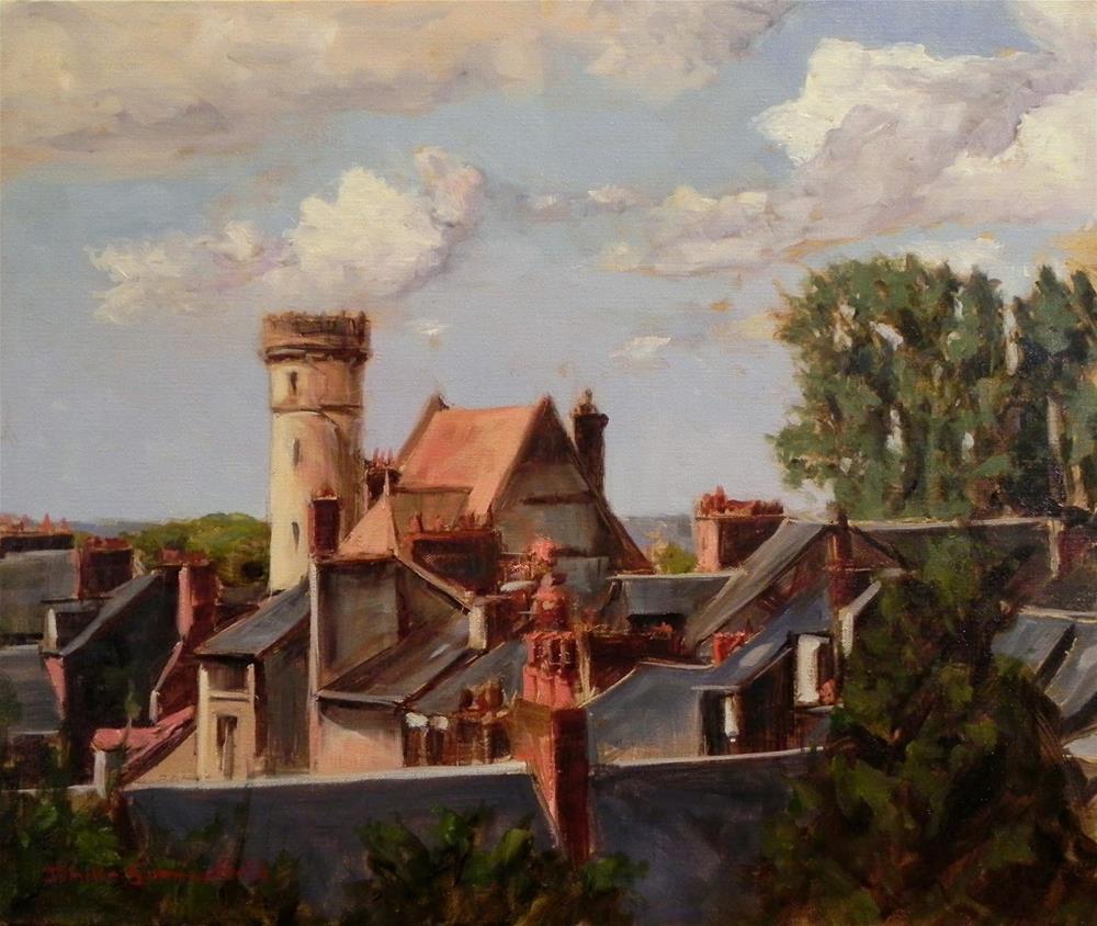 """Honfleur Rooftops"" original fine art by Jonelle Summerfield"