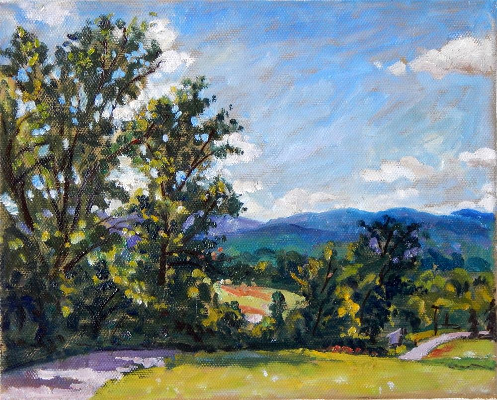 """Summer Light, Berkshires"" original fine art by Thor Wickstrom"