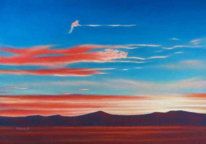 """""""Floating Along"""" original fine art by Carol Zirkle"""