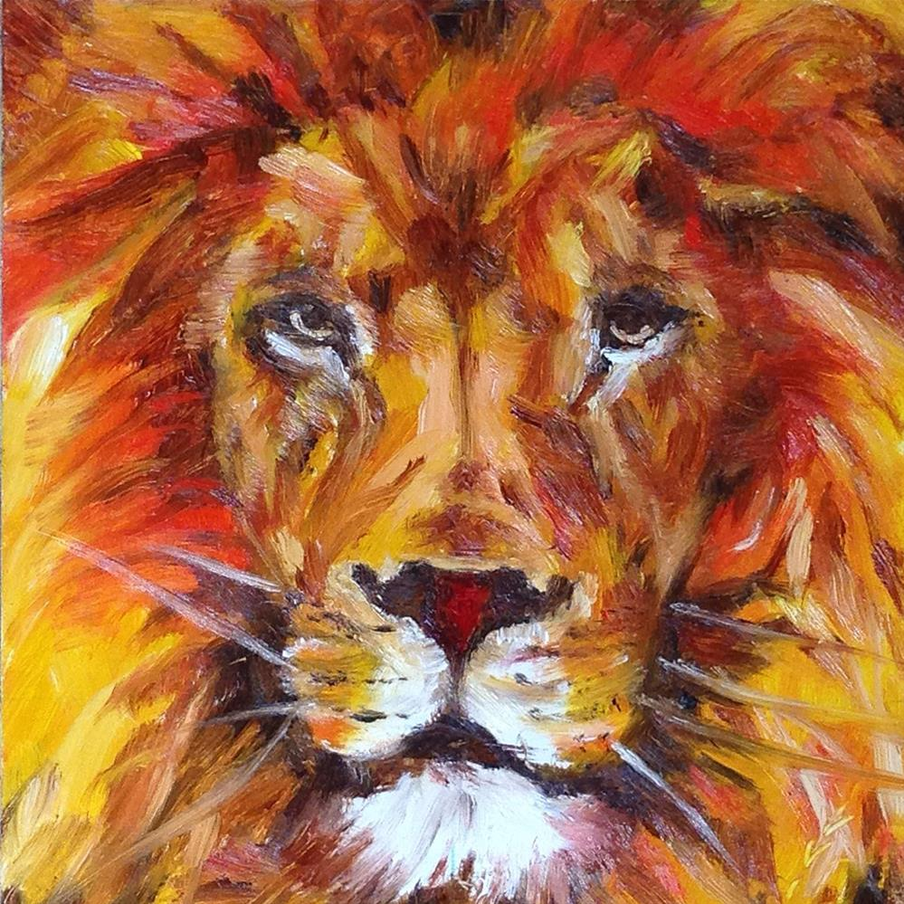 """Little King"" original fine art by Linda Lowery"