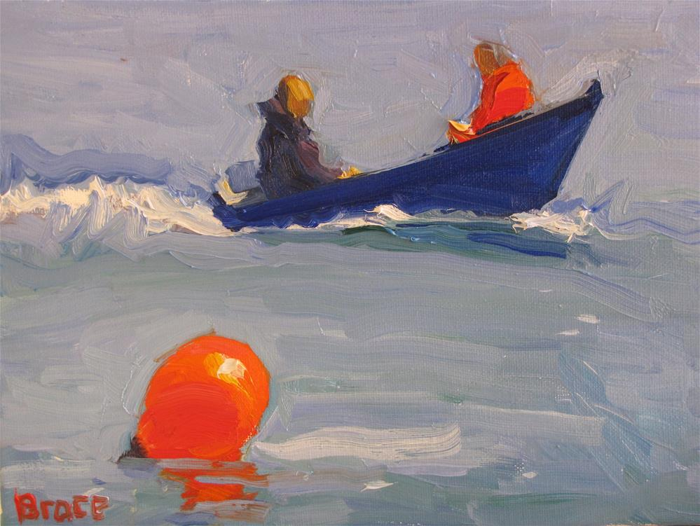 """Big Orange Bouy"" original fine art by Rita Brace"