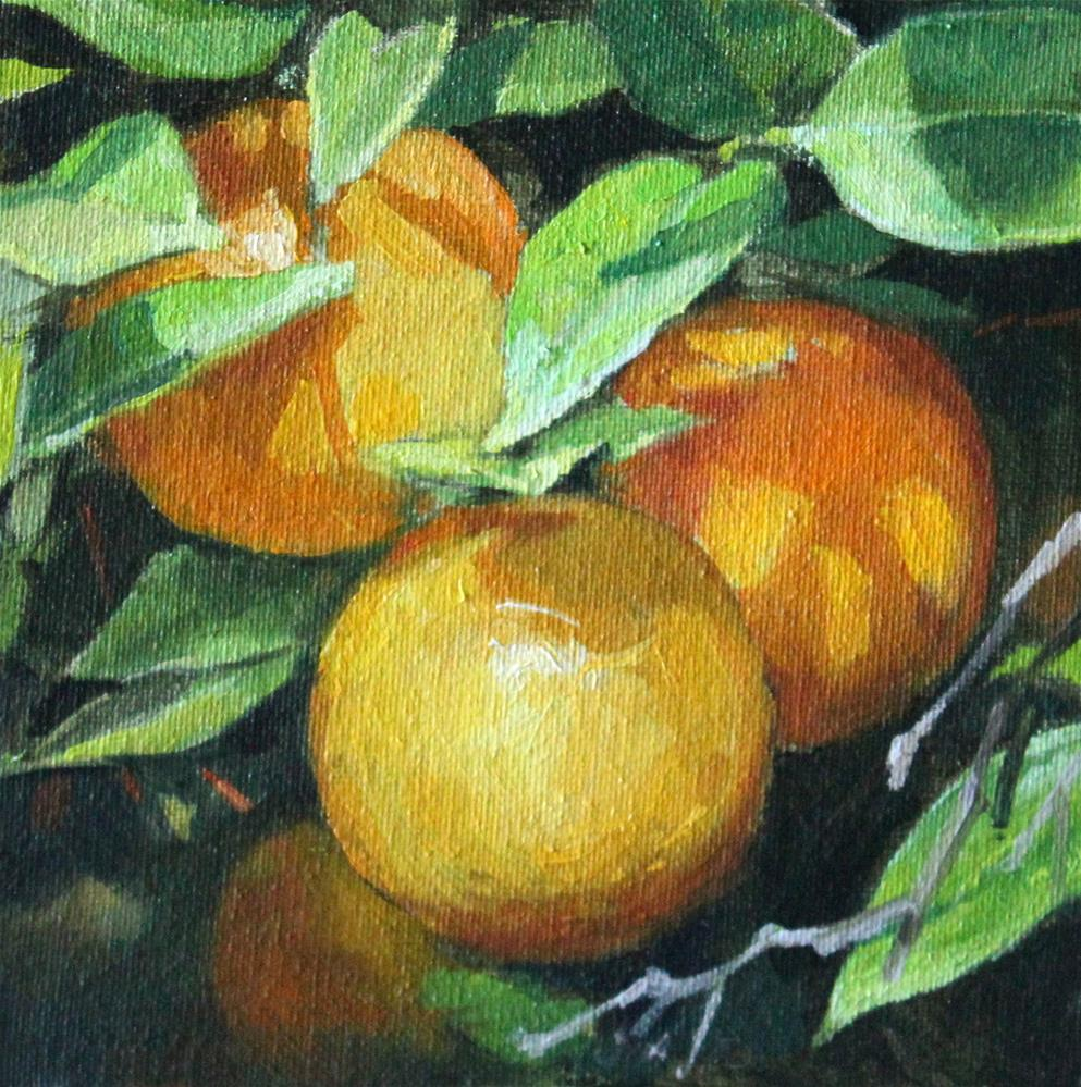 """Oranges"" original fine art by Neringa Maxwell"