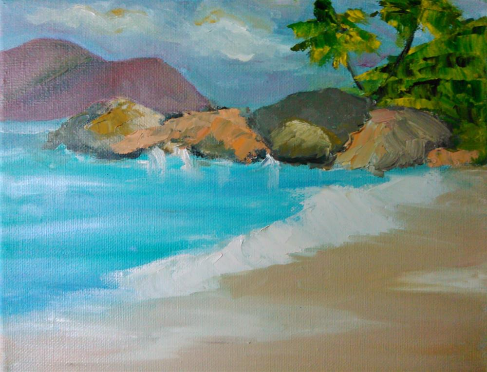 """Restful Waters"" original fine art by Gerri Obrecht"