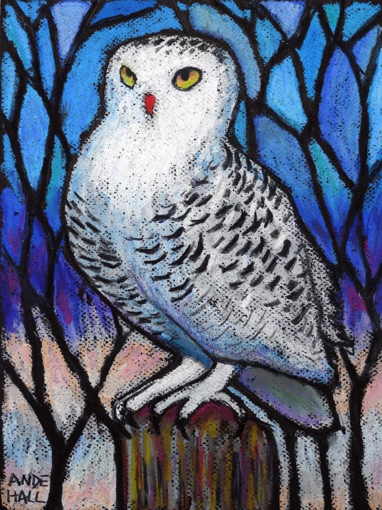 """Snowy Owlsomeness"" original fine art by Ande Hall"
