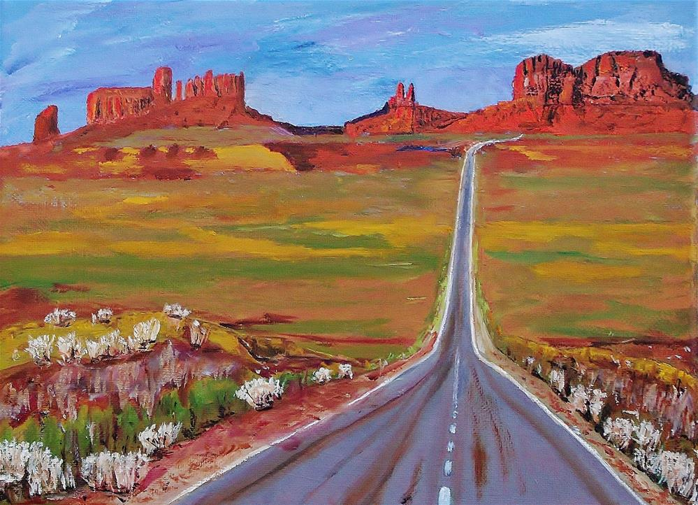 """Highway 163 - Monument Valley"" original fine art by Mike Caitham"